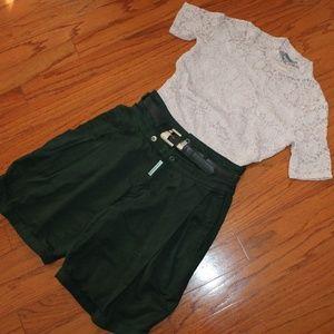 Z Cavaricci High Waist Pleated Shorts